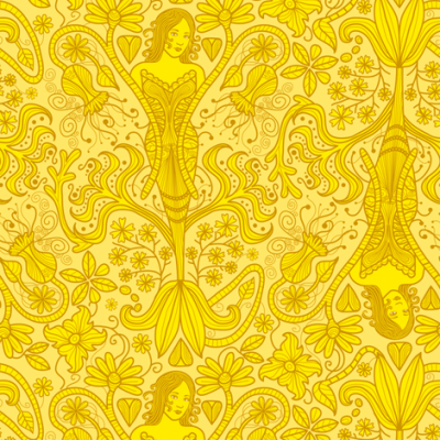 The Yellow Wallpaper fabric - totallysevere - Spoonflower