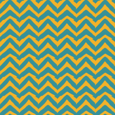 Jagged Teal and Mustard Yellow Chevron fabric - bohobear - Spoonflower