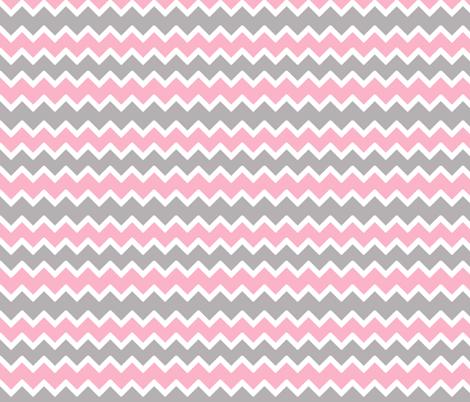 Pink Grey Gray Chevron Zigzag Pattern Wallpaper Decamp Studios