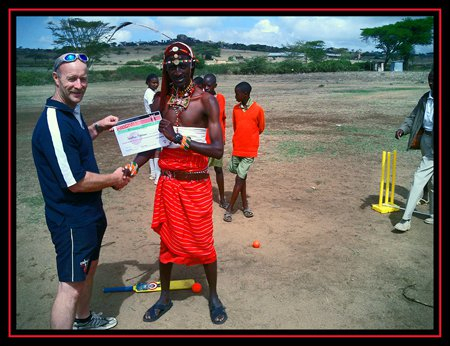 A proud moment as I receive my first ever certificate after passing the Introductory Cricket Coaching Course