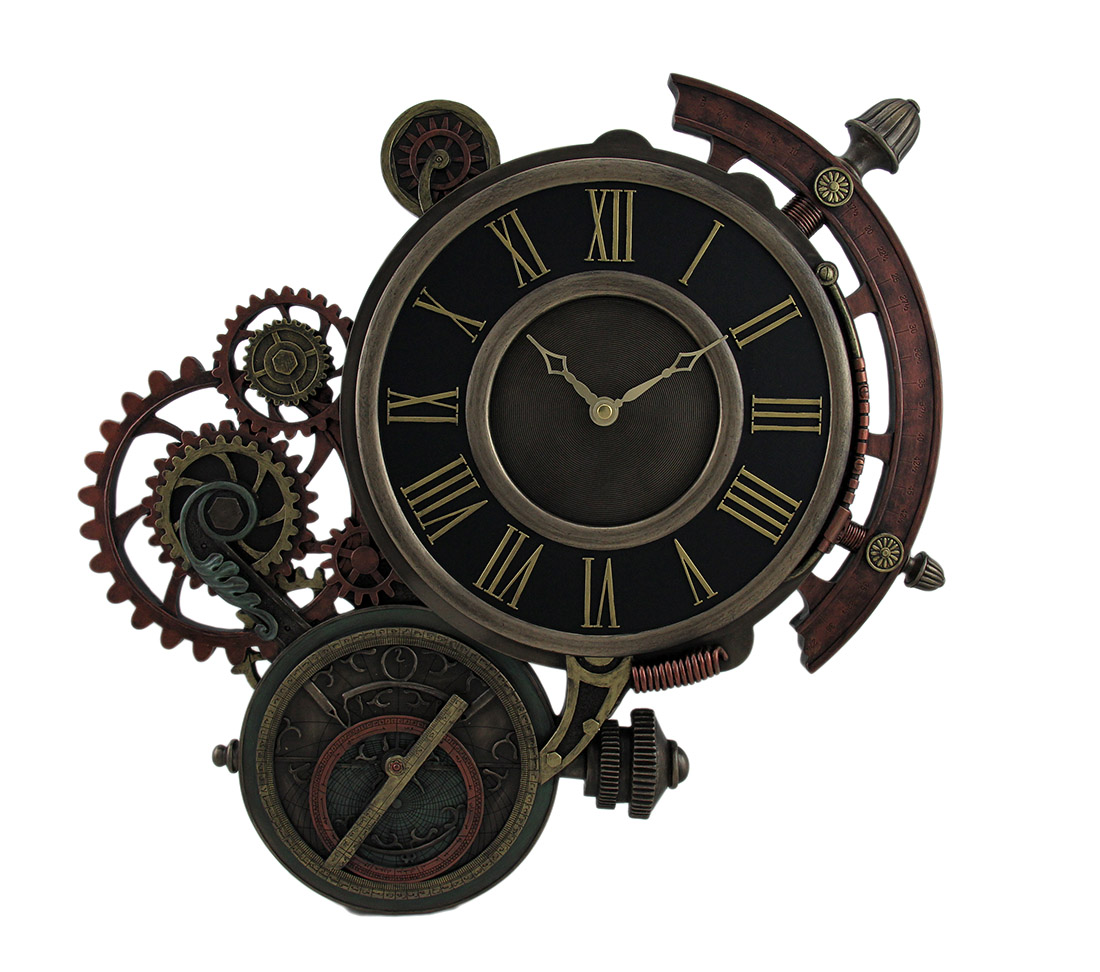 Captivating Mechanical Steampunk Astrolabe Star Tracker Wall Clock Inch Steampunk Wall Clock Working Gears Steampunk Wall Clock Kit houzz-03 Steampunk Wall Clock