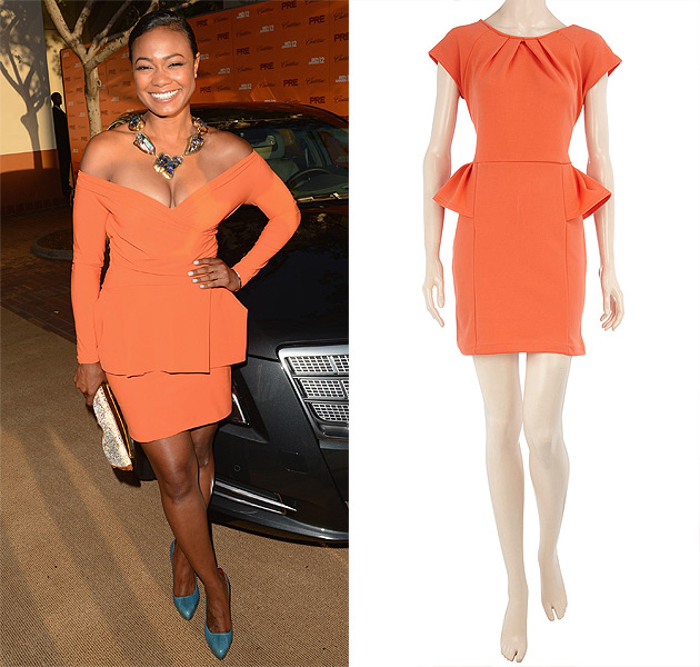tatyana-ali-pre-bet-party-orange-dress