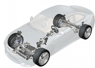All the M4 derived chassis components found in the new BMW M2