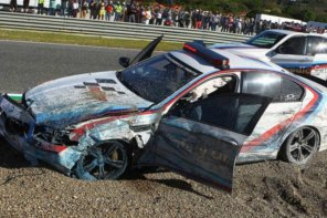 MotoGP BMW M5 Pace Car Crashes at Jerez