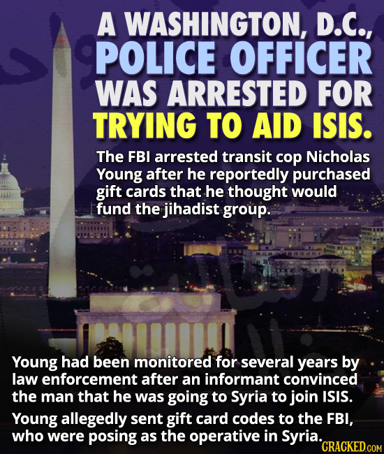 DC cop arrested for trying to help ISIS
