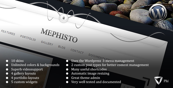 Mephisto WordPress Theme