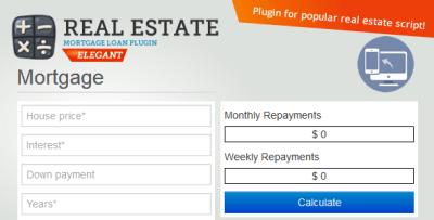 Real Estate Mortgage Loan Calculator by sanljiljan | CodeCanyon