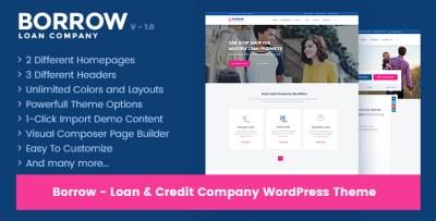 Borrow - Loan Company Responsive WordPress Theme by OceanThemes | ThemeForest