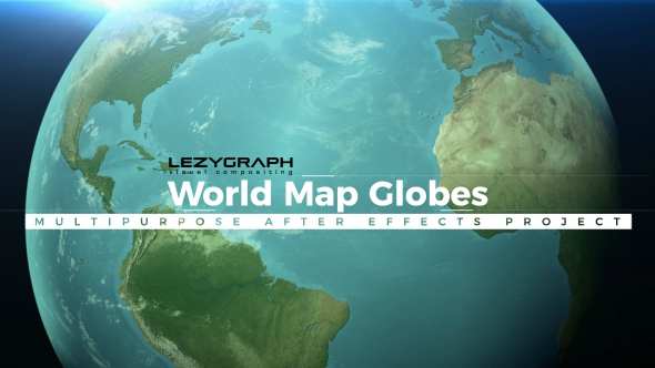 World Map Globes by lezygraph   VideoHive Play preview video
