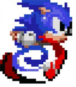 The iconic Sonic the Hedgehog