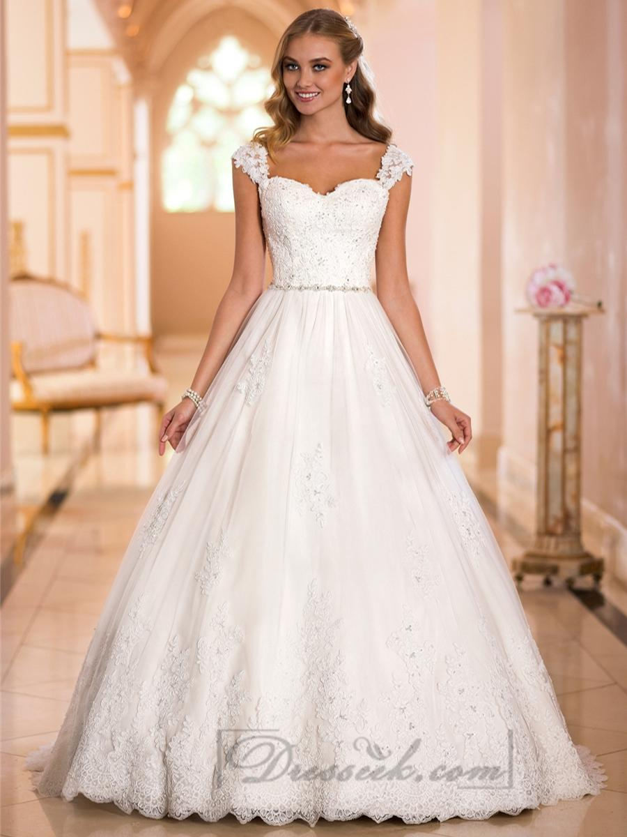 straps sweetheart lace princess ball gown wedding dresses wedding dress with straps Straps Sweetheart Lace Princess Ball Gown Wedding Dresses