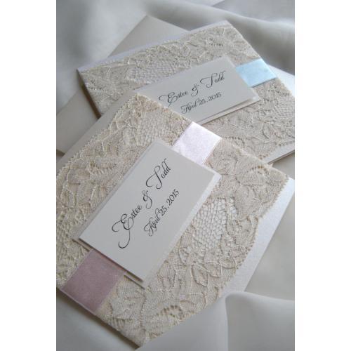 Medium Crop Of Lace Wedding Invitations