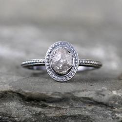 Small Crop Of Raw Diamond Ring
