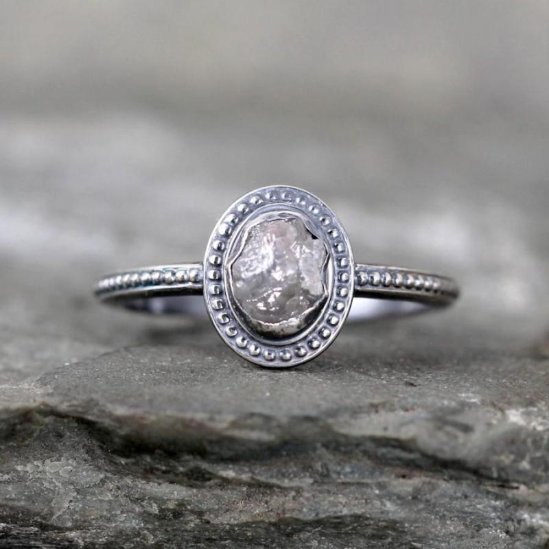 Large Of Raw Diamond Ring
