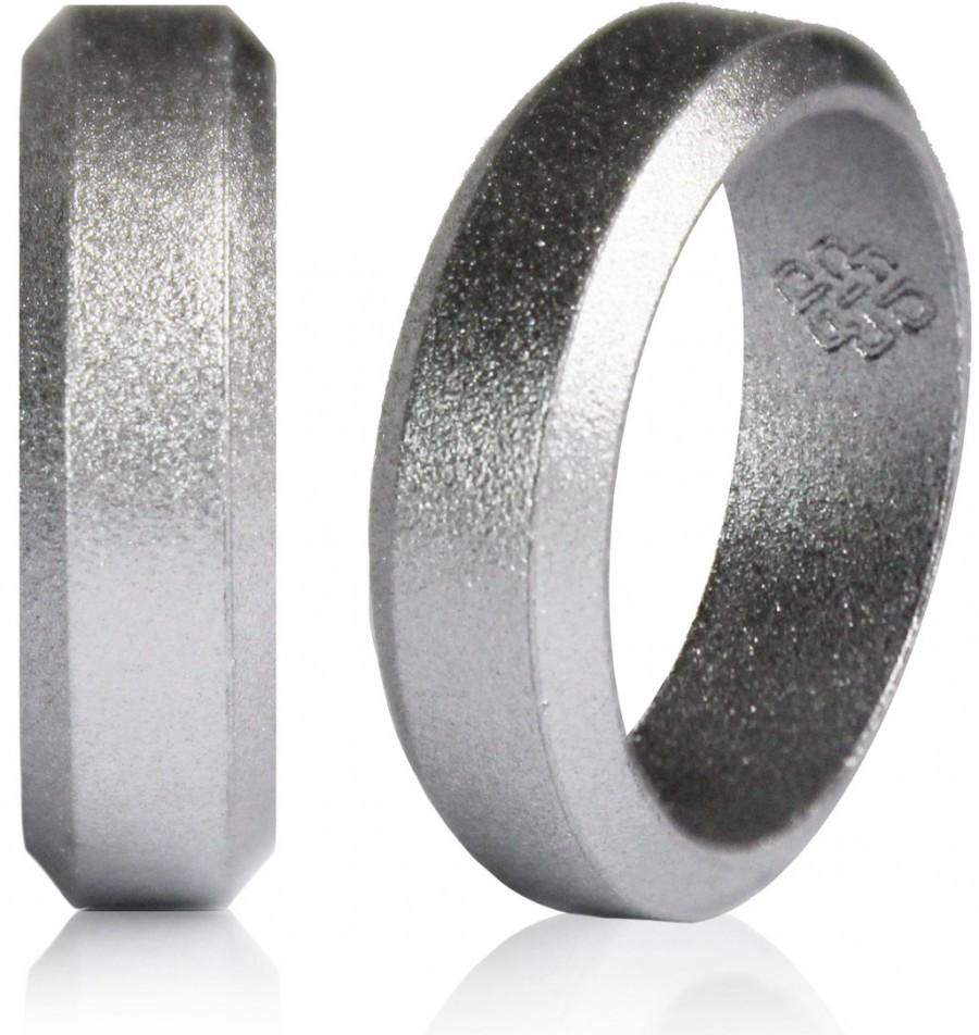 elements silicone ring silver silicone wedding ring