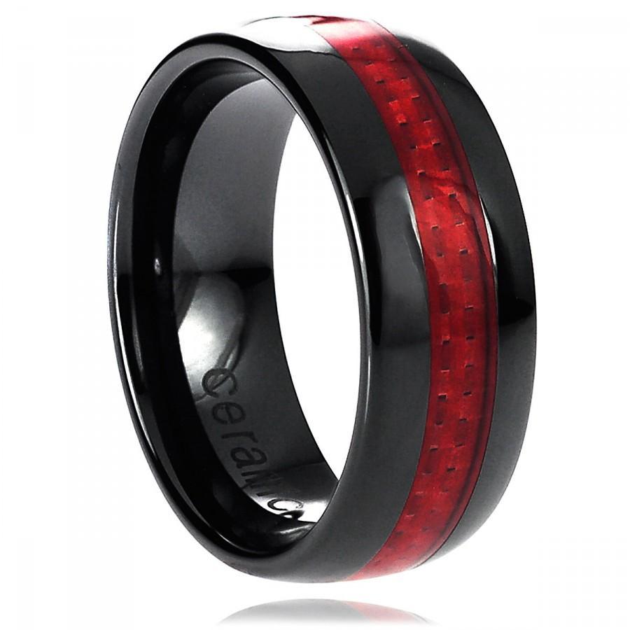 mens celtic wedding band black carbon fiber stainless steel 1 carbon fiber wedding bands Hover to zoom