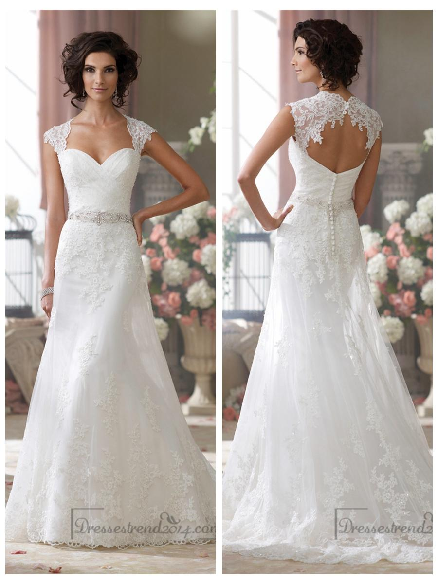 cap sleeves slim a line sweetheart lace appliques wedding dresses wedding dress cap sleeves Cap Sleeves Slim A line Sweetheart Lace Appliques Wedding Dresses