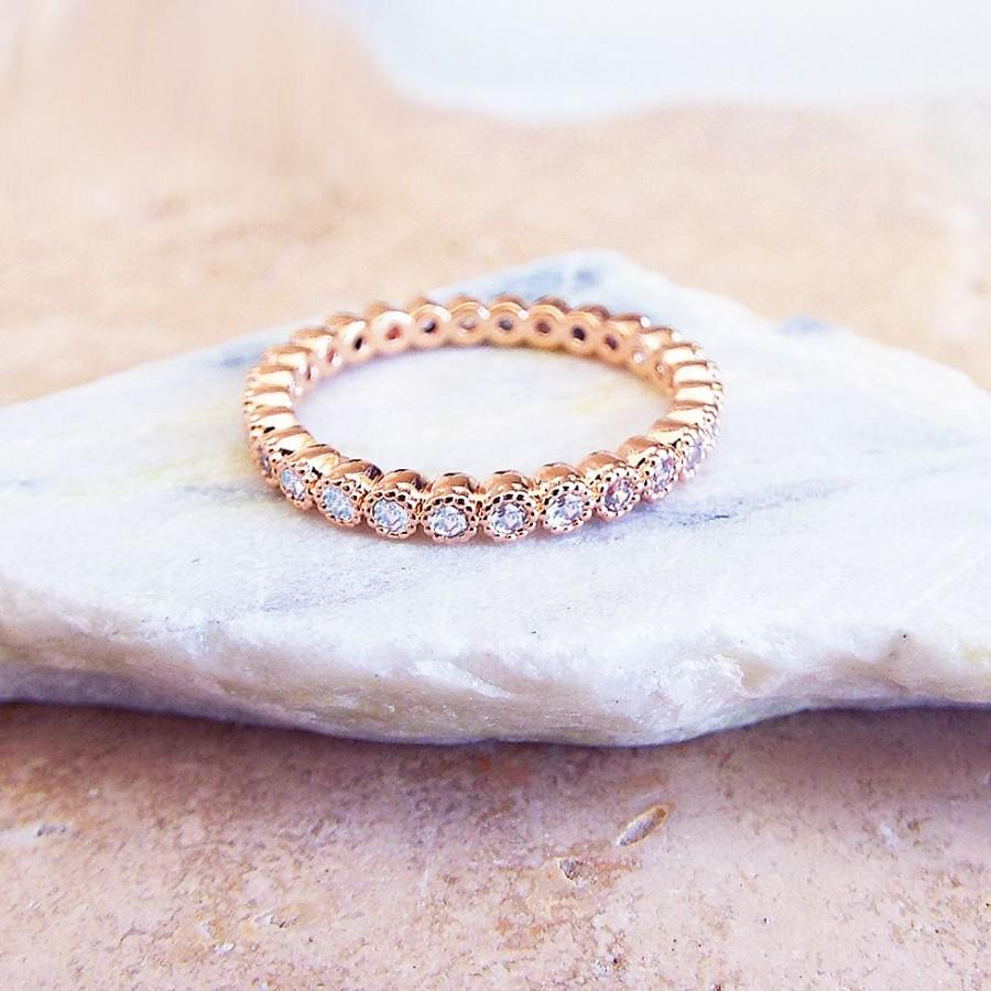 wedding anniversary rings GORGEOUS Henri Daussi micro pave diamond band thinking I might reset my Anniversary Rings
