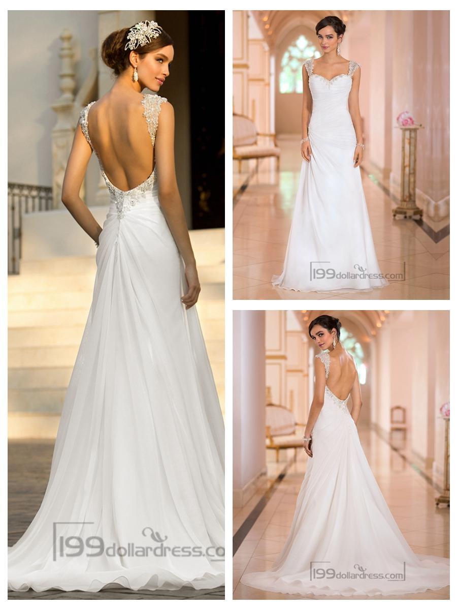 list detail open back wedding dresses open back wedding dresses Lace Wedding Dresses Straps Cap Sleeve Appliques A Line Sweep Train White Cheap Open Back