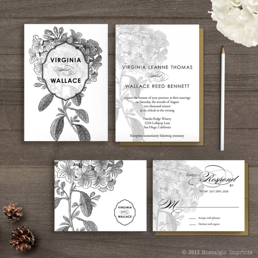 floral sprays with a vintage vibe in our new invitation suite floral wedding invitations DIY vintage floral wedding invitation Download Print