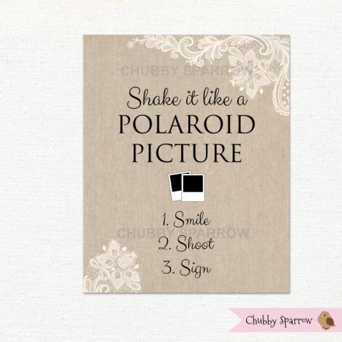 Medium Of Polaroid Guest Book
