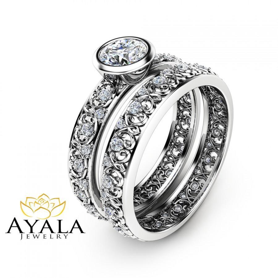 black and blue wedding dresses unique wedding ring sets Unique Wedding Ring Sets