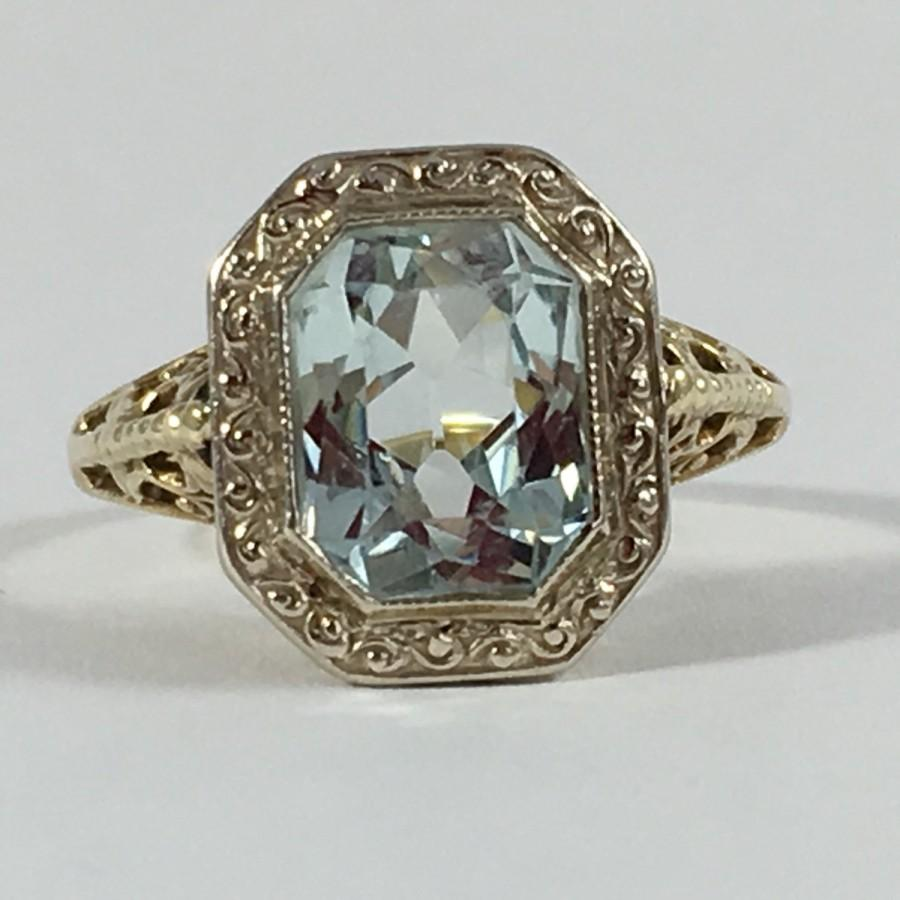 my deco inspired aquamarine and diamond ring aquamarine wedding rings Anyway I m trying to look at my beautiful ring as a symbol of new beginnings and future happiness and I d like to share it with you