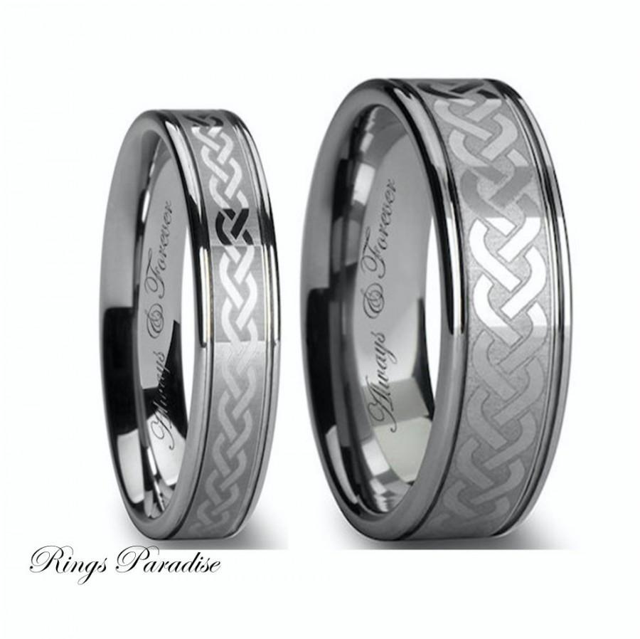 mens wedding band black tungsten carbide 1 tungsten carbide wedding rings Hover to zoom