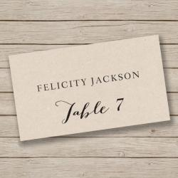 Small Of Place Cards Template