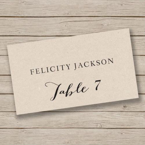 Medium Of Place Cards Template