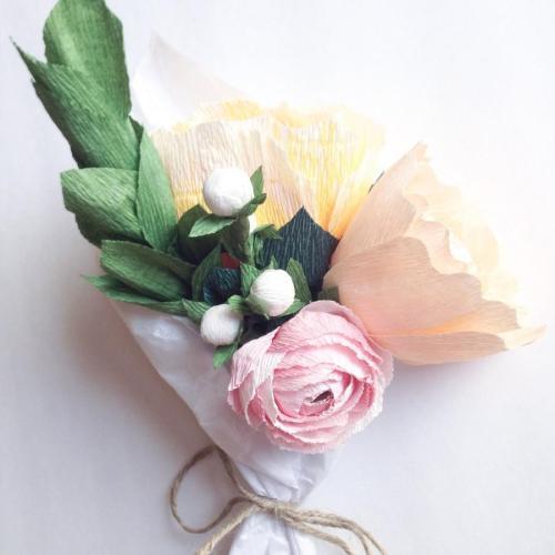 Medium Of Crepe Paper Flowers