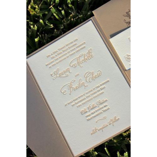 Medium Crop Of Letterpress Wedding Invitations
