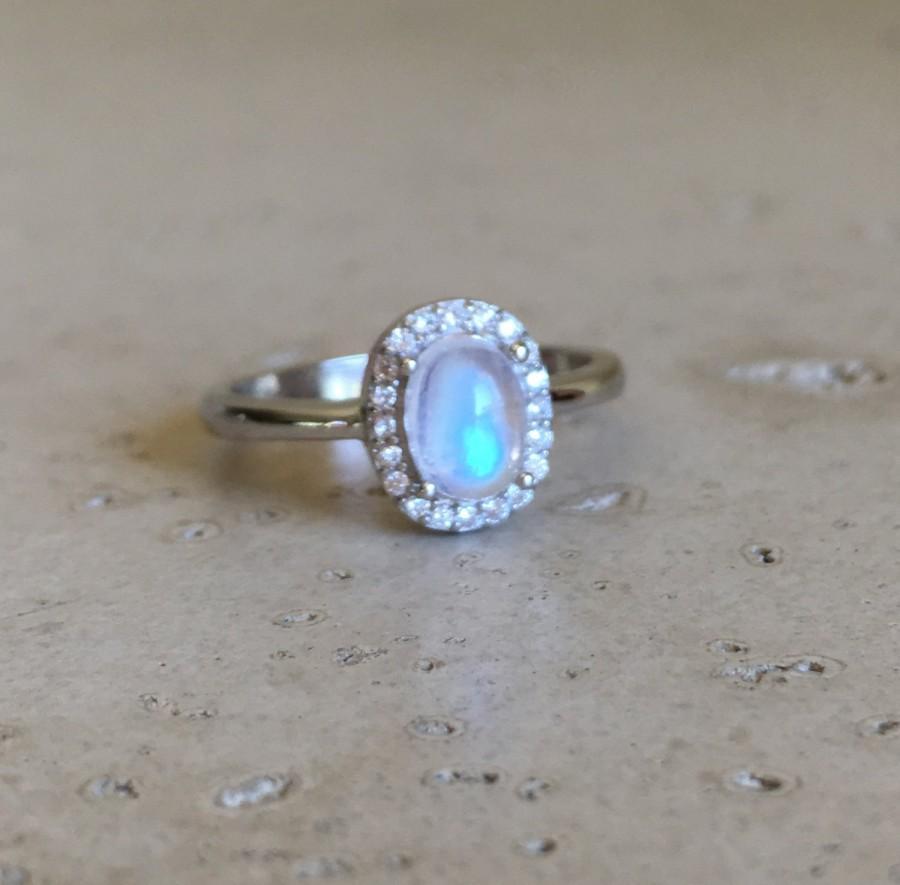 intricate swirl engagement ring moonstone wedding rings Intricate Vintage Swirl Moonstone Engagement Ring