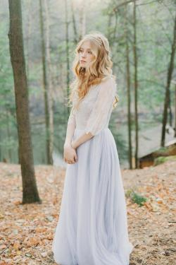 Small Of Lavender Wedding Dress