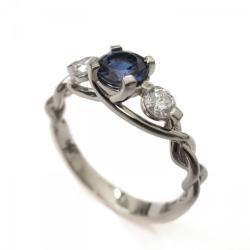 Examplary Diamond Engagement Gdiamond Engagement Celtic Three Stone Braided Engagement Ring Sapphire Braided Engagement Ring Sapphire Diamond Engagement Ring