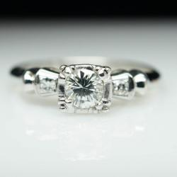 Small Of Art Deco Engagement Rings