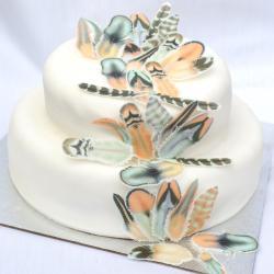 Appealing Edible Fears Chocolate Orange Boho Wedding Cake Decorations Wafer Ricepaper Mint Coral Rustic Birthday Party Cupcake Pers Cookies Rustic Cake Pers Weddbook