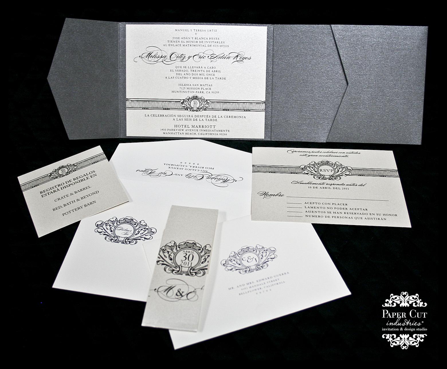 bilingual wedding invitations spanish spanish wedding invitations Wedding Invitations In Spanish Invitation Wording Both