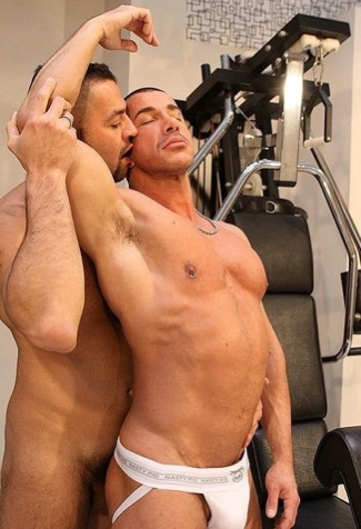 big pecs in muscles shirt