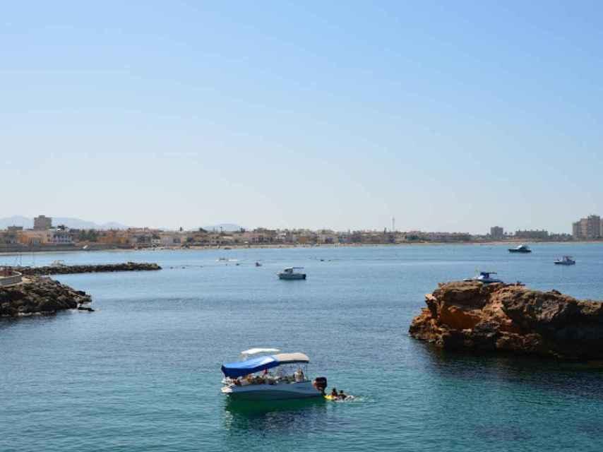 Playa Levante, en Cartagena.