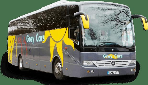 coach hire grey cars