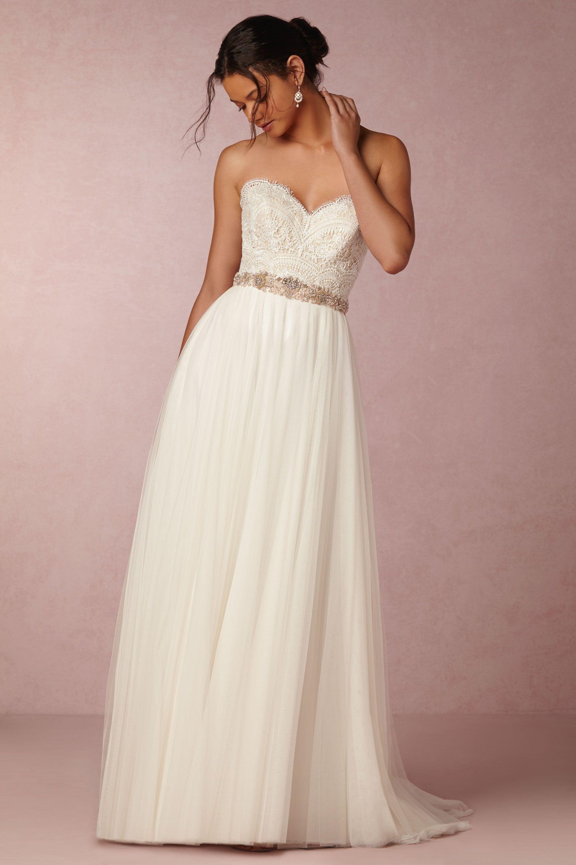 bride bridal separates tank top wedding dresses Kinsey Corset Top Amora Skirt