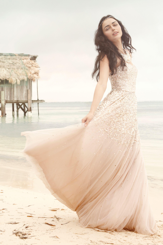 isadora gown beach casual wedding dress Rachel Gilbert champagne Isadora Gown BHLDN