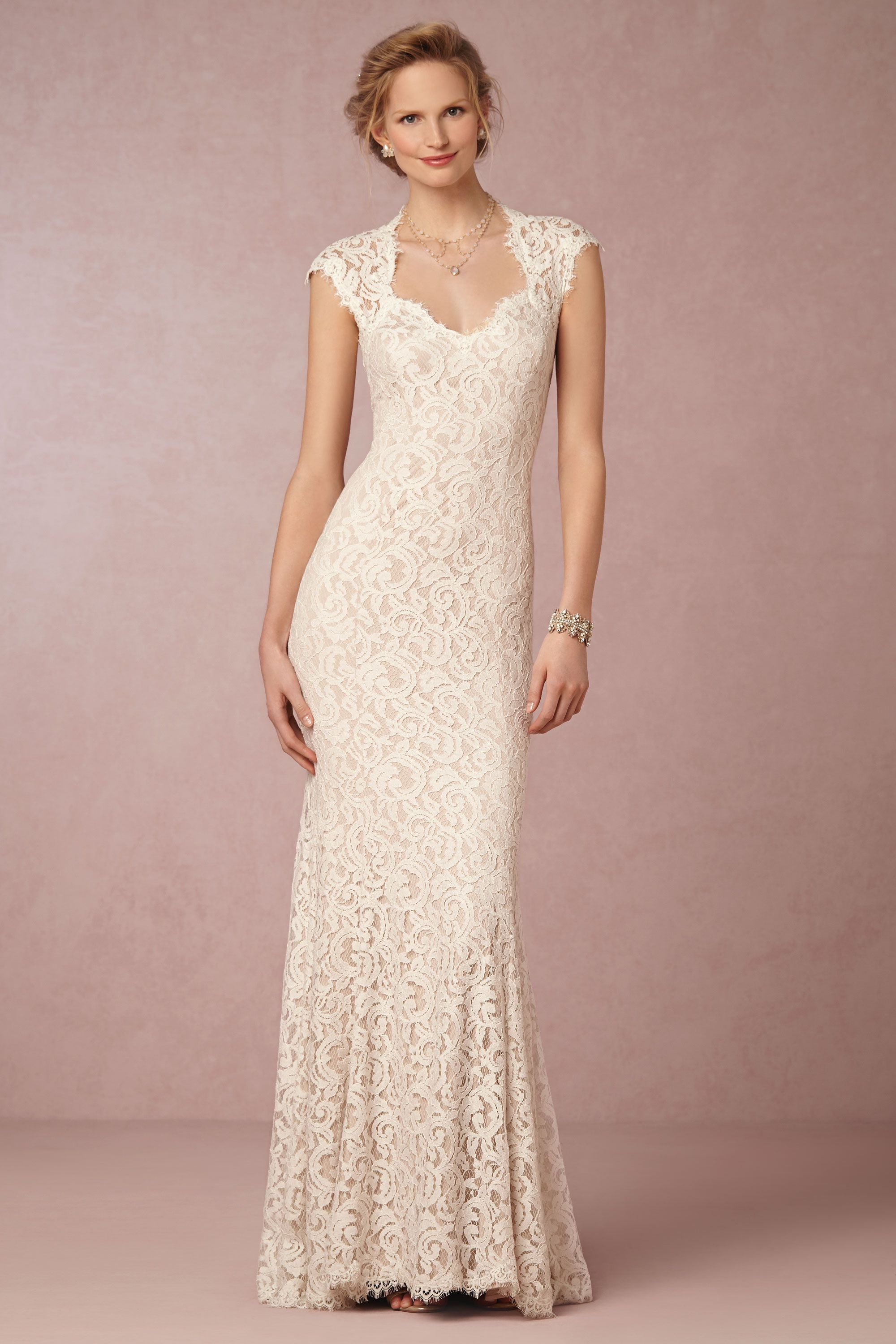 marivana lace gown ivory wedding dress Ivory natural Marivana Lace Gown BHLDN