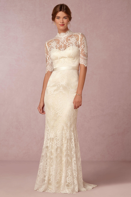 bridgette gown wedding gown Oyster bridal Cream Bridgette Gown BHLDN