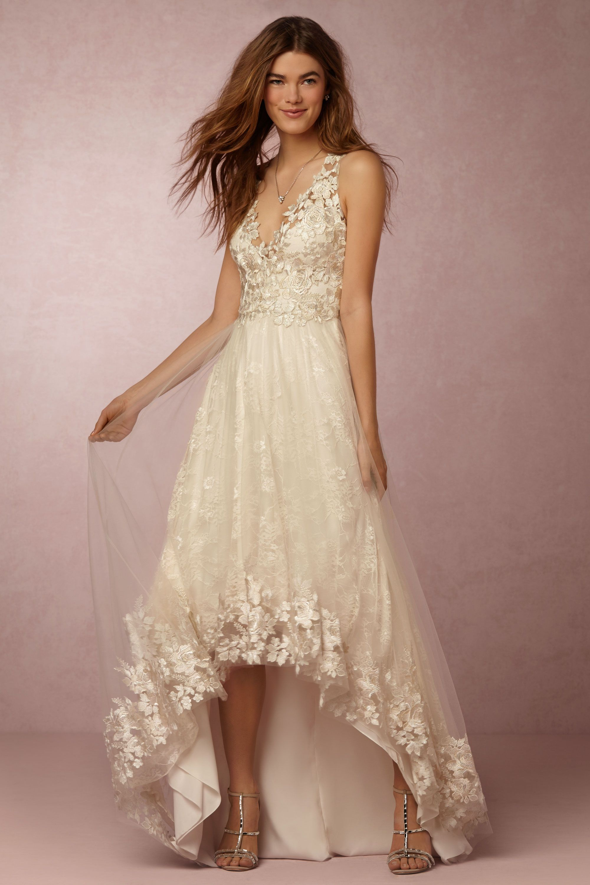opal gown wedding gowns Marchesa Notte Ivory Opal Gown BHLDN