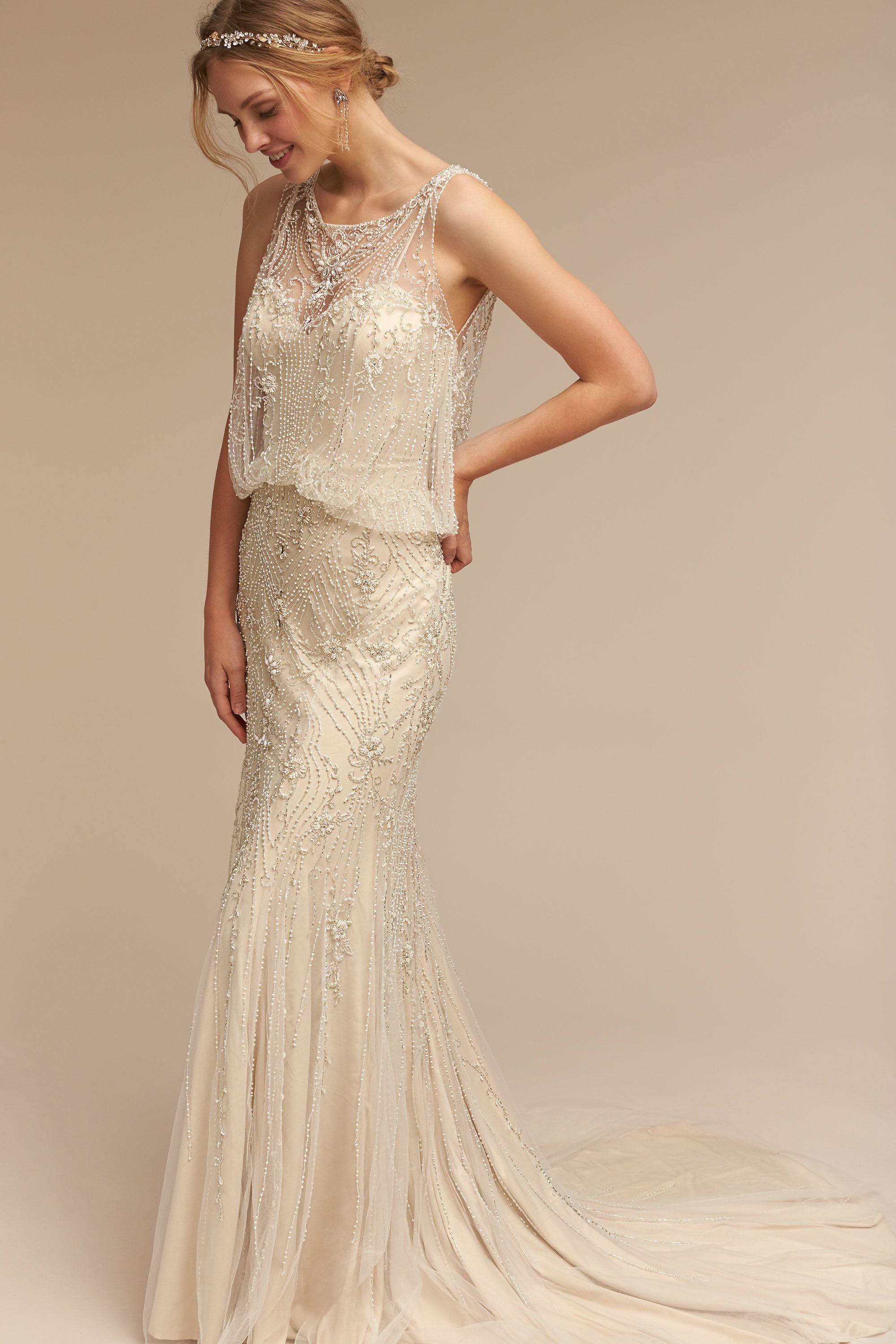 jacinda gown wedding gown Ivory champagne Jacinda Gown BHLDN