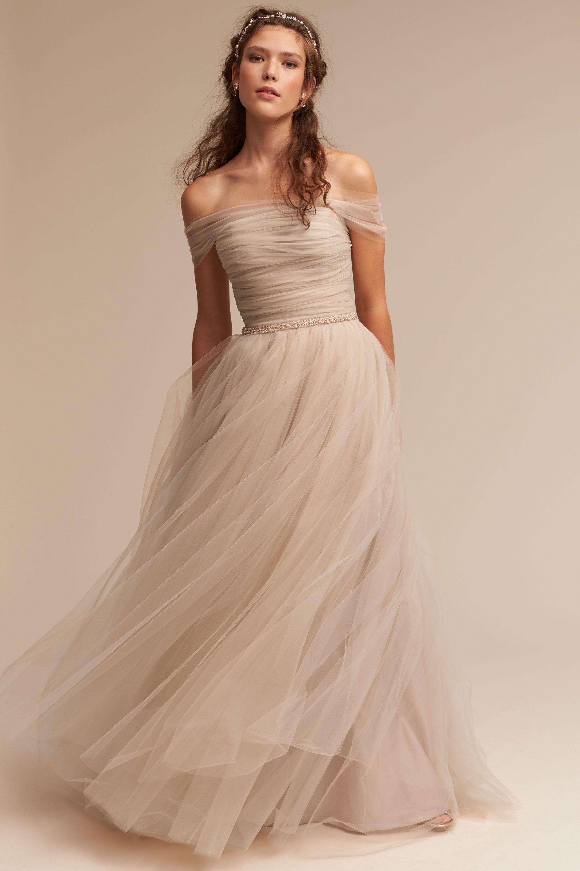 ramona gown wedding gowns Champagne Ramona Gown BHLDN