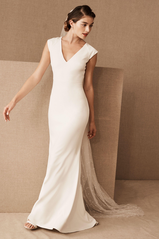 bride wedding dresses sheath simple white wedding dresses Sawyer Gown Sawyer Gown