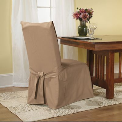 image of sure fit duck supreme cotton dining room chair slipcover furniture covers for chairs